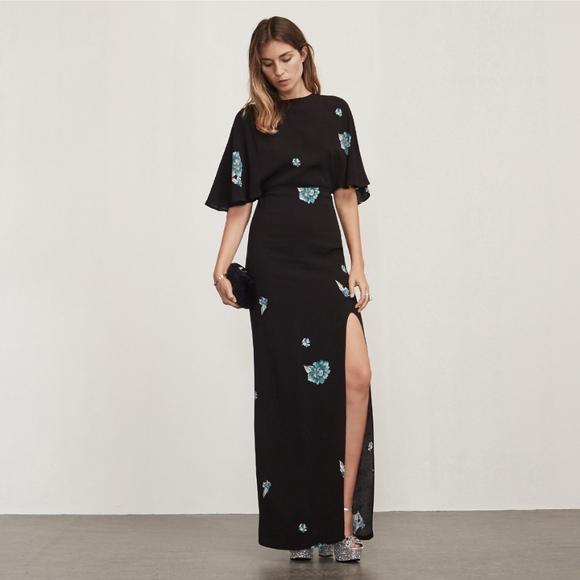 Cape Maxi Dress